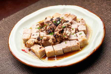 Fried chinese yam with minced meat