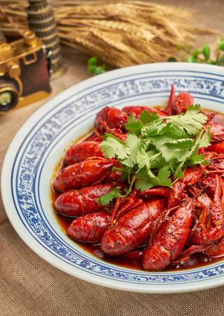 Traditional gourmet spicy crayfish 写真素材