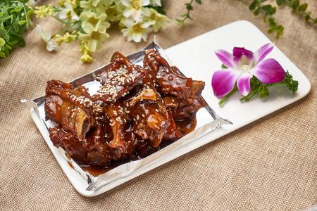 Traditional gourmet braised pork ribs 写真素材