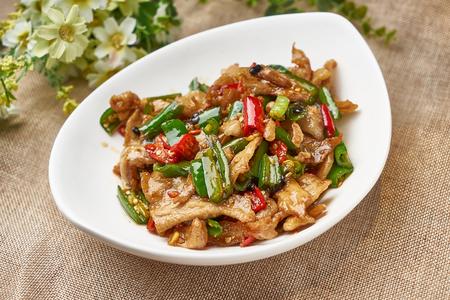 Traditional gourmet chili fried lard 写真素材