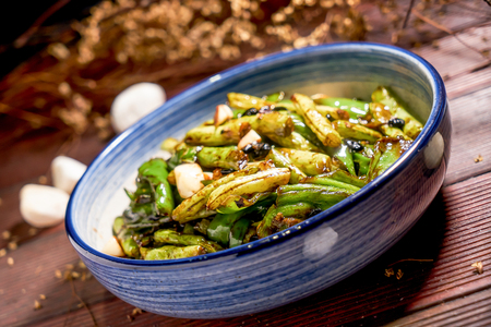 Dry-Fried French Beans with Minced Pork 写真素材