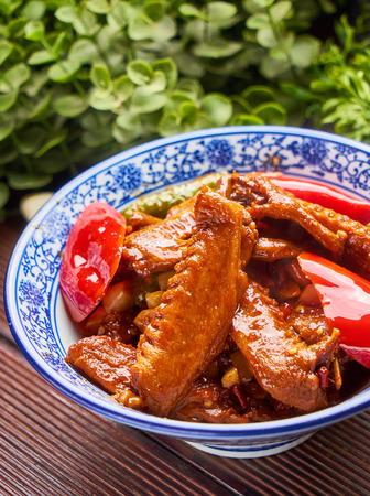 Traditional gourmet braised duck wings