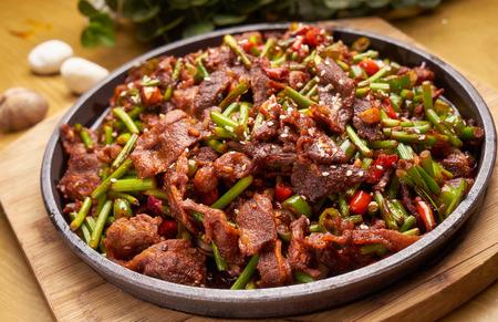 Traditional gourmet garlic fried beef