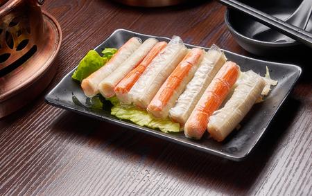 Hot pot dish - seafood sticks 写真素材