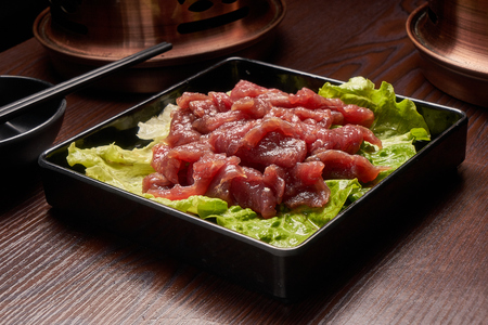Hot pot dish - fresh beef