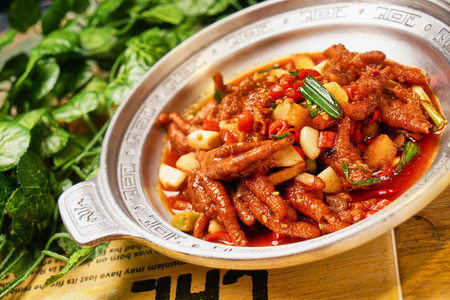 Home-cooked food braised chicken feet
