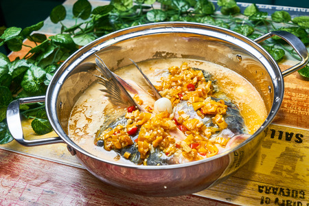 Traditional food, Steamed Fish Head with Chopped Chilli Pepper