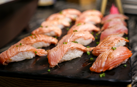 Japanese cuisine salmon sushi