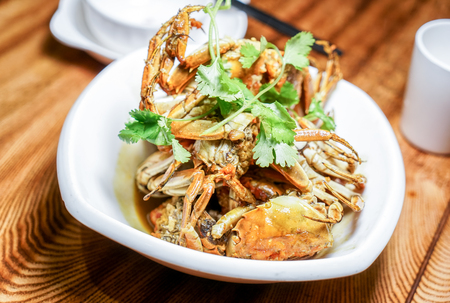 Home-cooked fried crab