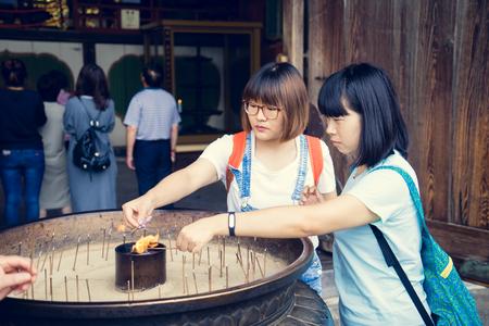 todaiji: Todaiji Temple incense Editorial