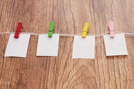 clothespins: miniature clothespins Stock Photo