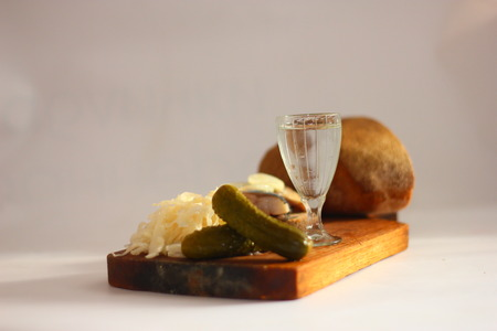 vodka: cold appetizer with vodka