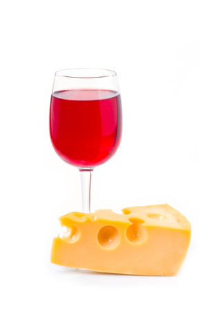 cheeseboard: glass of wine with cheese