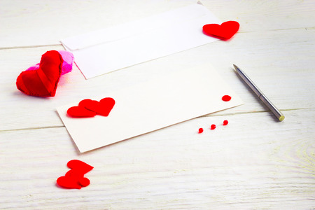 blank greeting cards on Valentines Day