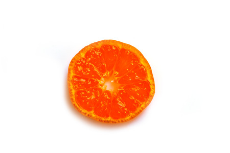Mandarin is a sectional view from above on a white background