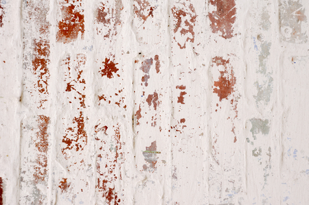 chic: Brick Wall. Painted White. Background. Shabby Chic
