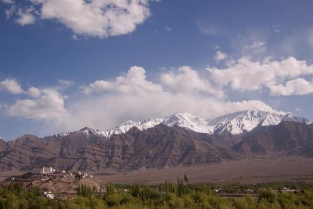 Buddhist monastery in Ladakh. India. State Jammu and Kashmir.