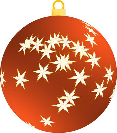 クリスマス ツリーのイラストの赤い装飾