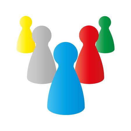 Vector illustratie van de cijfers voor het spelen van bordspellen