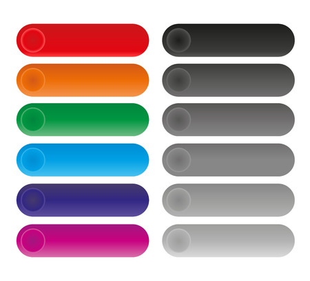 Set of rounded colorful buttons Vector