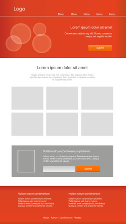 Responsive graphic web template Vector