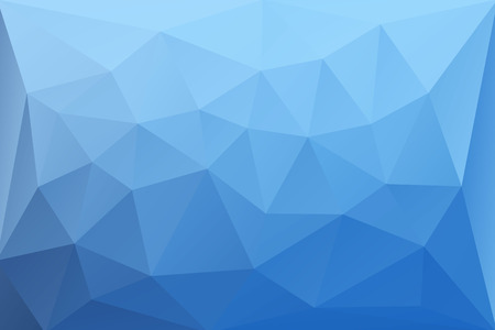 abstract forms: Abstract vector background of bright blue triangles Illustration