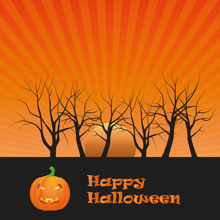 affraid: Happy Halloween card Stock Photo
