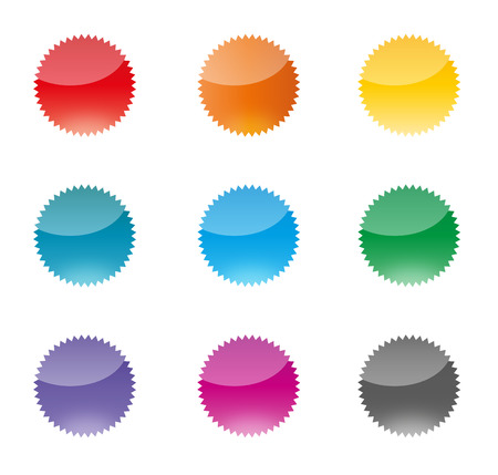 Set of colorful vector badges