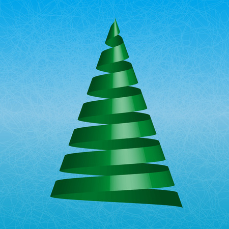 lent: Vector christmas tree on blue ice background