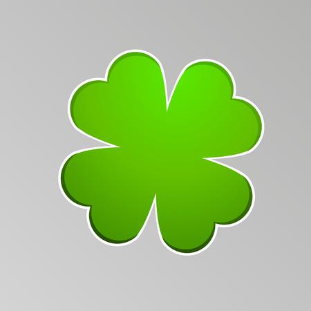 cloverleaf: Vector drawing a lucky four-leaf clover