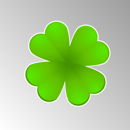 four leaved: Vector leaf clover for luck with an edge Illustration