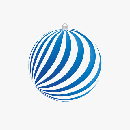 christmastide: Xmas bulb with blue rays