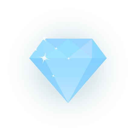 boast: Vector illustration of light blue diamond Illustration