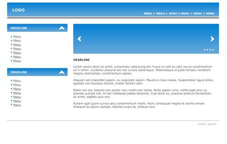 Web Website Design Element Template Vector