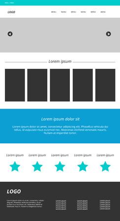 web site design template: Web site template. Modern website design