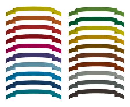 Set di nastri colorati. La tavolozza dei colori