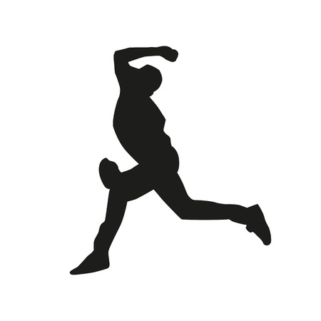 baseball pitcher: Baseball pitcher vector silhouette