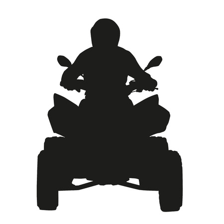 quad: ATV rider. Vector silhouette Illustration