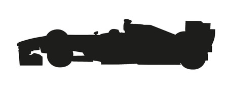 car side view: Vector silhouette of a racing car. Formula