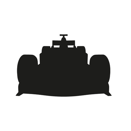 kart: Racing car vector silhouette