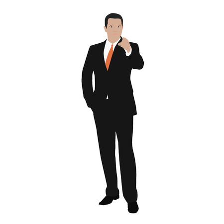 indicate: Vector business man indicate Illustration