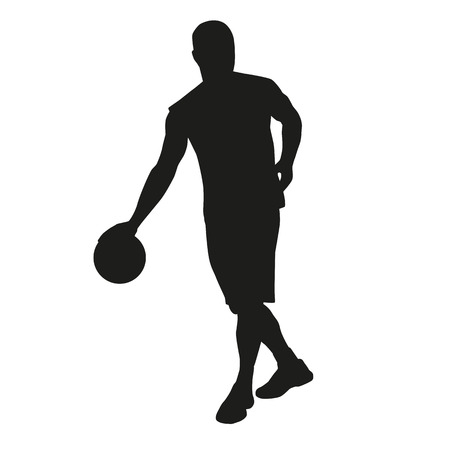 dribbling: Dribbling basketball player Illustration