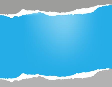 skyblue: Torn paper. Sky-blue background