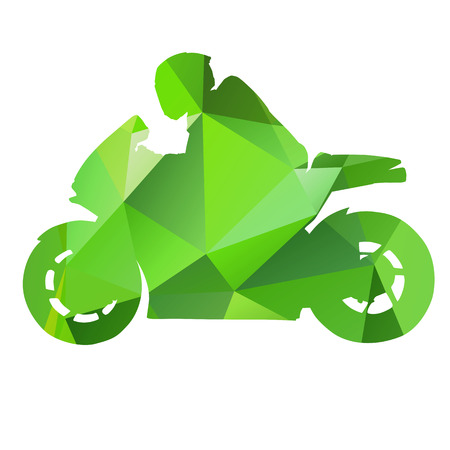 Vector abstract isolated motorbike Vector