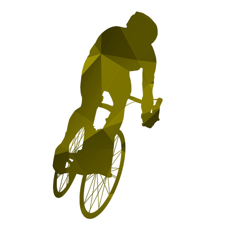 sports race emblem: Abstract isolated vector cyclist Illustration
