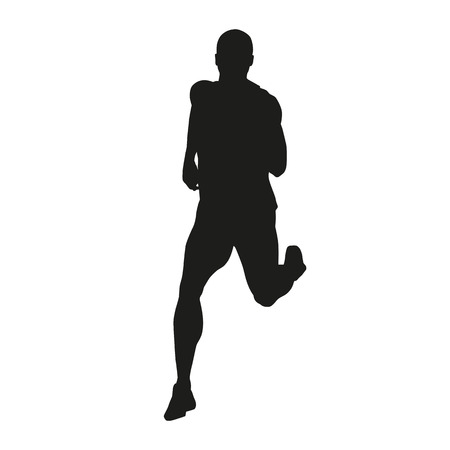 Vector runner silhouet Stock Illustratie