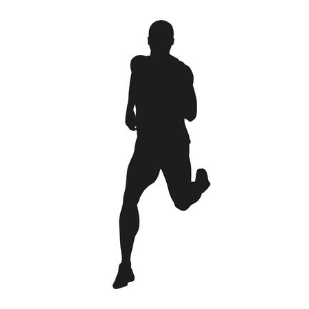 hombres corriendo: Vector silueta del corredor