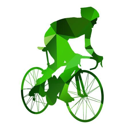 Abstract vector cyclist Vector