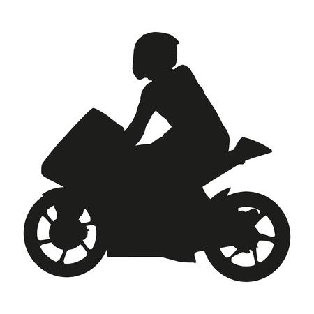 racer: Vector moto racer silhouette
