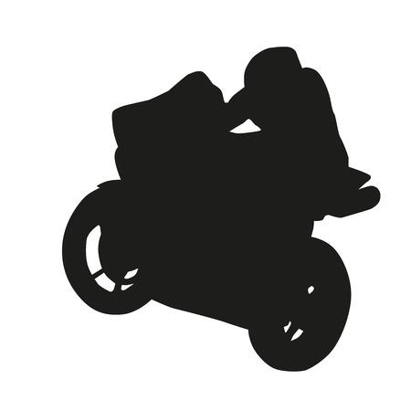 racer: Moto racer silhouette